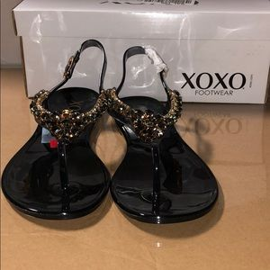 [152] Xoxo 7 M Joanie Embellished Thong Jelly